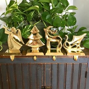 Solid Brass - Stocking Holders